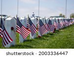 Flags On Grave Stones For...