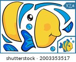 kids paper game for craft... | Shutterstock .eps vector #2003353517