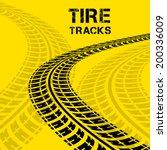 tire tracks. vector... | Shutterstock .eps vector #200336009