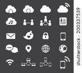 internet icon set | Shutterstock .eps vector #200337539