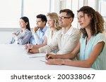 casual business team listening... | Shutterstock . vector #200338067