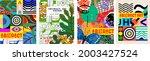 abstract art poster. vector... | Shutterstock .eps vector #2003427524