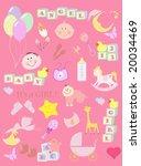 illustrations of baby   Shutterstock . vector #20034469