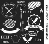badge,barbecue,bbq,beef,butcher,collection,cooking,cow,design,element,farm,flame,food,fork,fresh