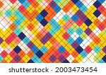 abstract colorful geometric... | Shutterstock .eps vector #2003473454