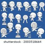 a vector of sport activities in ... | Shutterstock .eps vector #2003518664