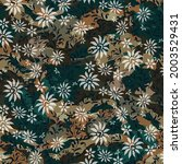seamless camouflage pattern on... | Shutterstock .eps vector #2003529431