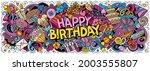 happy birthday hand drawn... | Shutterstock .eps vector #2003555807