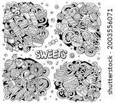 sweet food cartoon vector...   Shutterstock .eps vector #2003556071