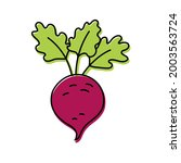 beet. vegetable sketch. color... | Shutterstock .eps vector #2003563724