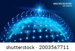 vector. map of the planet. blue ... | Shutterstock .eps vector #2003567711
