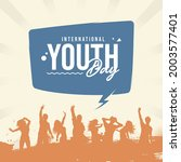 international youth day poster... | Shutterstock .eps vector #2003577401