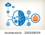 city buildings and abstract... | Shutterstock .eps vector #200358059