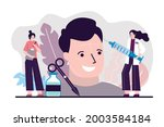 plastic surgeons perform...   Shutterstock .eps vector #2003584184