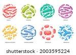 set probiotic bacteria...   Shutterstock .eps vector #2003595224