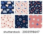 colorful seamless vector... | Shutterstock .eps vector #2003598647