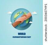 world humanitarian day paper... | Shutterstock .eps vector #2003607491