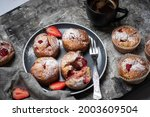 Baked Strawberry Muffin With...
