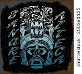 sangre azteca   aztec blood  ... | Shutterstock .eps vector #200361125