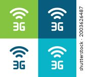 3g flat four color minimal icon ...