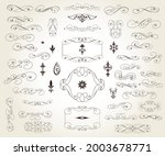 set of decorative elements for... | Shutterstock .eps vector #2003678771