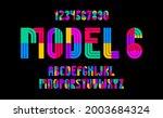 children colorful geometric... | Shutterstock .eps vector #2003684324