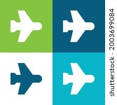airplane mode flat four color...   Shutterstock .eps vector #2003699084