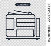 printer icon symbol template...