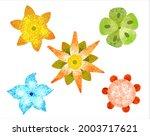 a set of stylized unusual... | Shutterstock .eps vector #2003717621