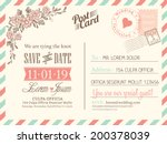 vintage postcard background... | Shutterstock .eps vector #200378039