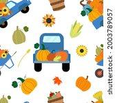 vector seamless pattern. fall... | Shutterstock .eps vector #2003789057
