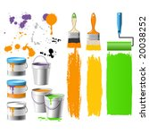 renewal things   brushes ... | Shutterstock .eps vector #20038252