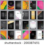 big collection advertising... | Shutterstock .eps vector #200387651