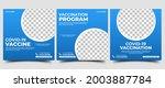 vaccination social media post...   Shutterstock .eps vector #2003887784