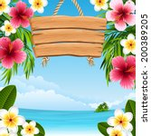 vector illustration   tropical... | Shutterstock .eps vector #200389205