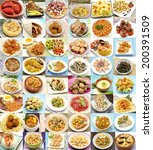 collage of cooked dishes... | Shutterstock . vector #200391509