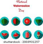 set icons of watermelons in...   Shutterstock .eps vector #2003931257