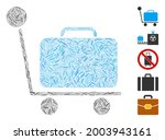 line mosaic luggage trolley...   Shutterstock .eps vector #2003943161