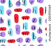cute hand drawn alphabet.... | Shutterstock .eps vector #200395469