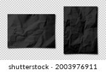 realistic blank crumpled paper... | Shutterstock .eps vector #2003976911
