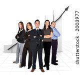 business team in front of a... | Shutterstock . vector #2003977