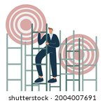 aim to target and climbing... | Shutterstock .eps vector #2004007691