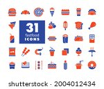 fastfood  food court vector...