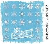 snowflake winter set | Shutterstock .eps vector #200409815
