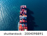 Aerial Top View Container...