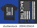 back the blue t shirt vector... | Shutterstock .eps vector #2004135614