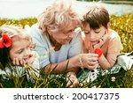 closeup summer portrait of... | Shutterstock . vector #200417375
