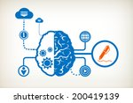 pencil and abstract human brain ... | Shutterstock .eps vector #200419139