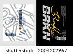 brooklyn  nyc  kings county ... | Shutterstock .eps vector #2004202967