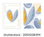 fresh tasty seafood clams ...   Shutterstock .eps vector #2004208394